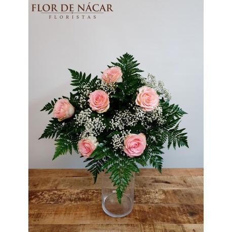 Ramo de 6 Rosas Rosas Falla