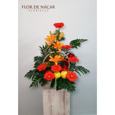 Cesta de Frutas y Flores Martinica