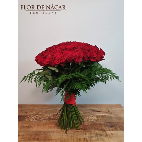 Ramo de 80 Rosas Rojas Pasión