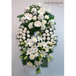 Corona de Flores en Blanco