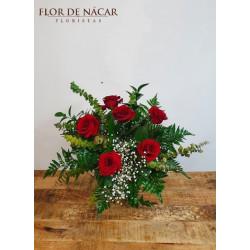 Ramo de 6 Rosas Rojas Tango
