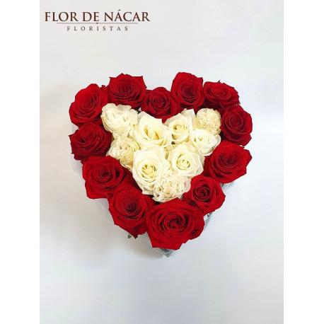 Corazón de Rosas Etéreo