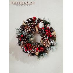 Corona de Navidad Escarcha