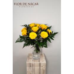 Ramo de 12 Rosas Amarillas Soul