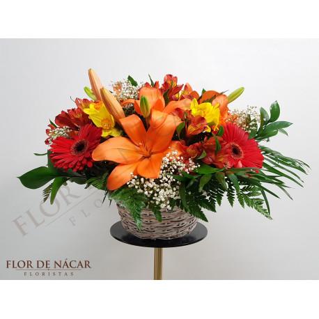 Cesta de Flores Sofía